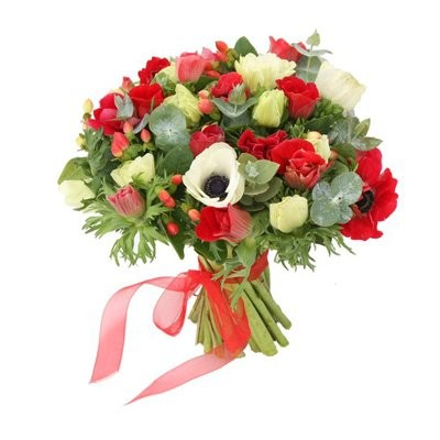 זר כלניות בצבעים  - פרחי עירית - פתח תקווה