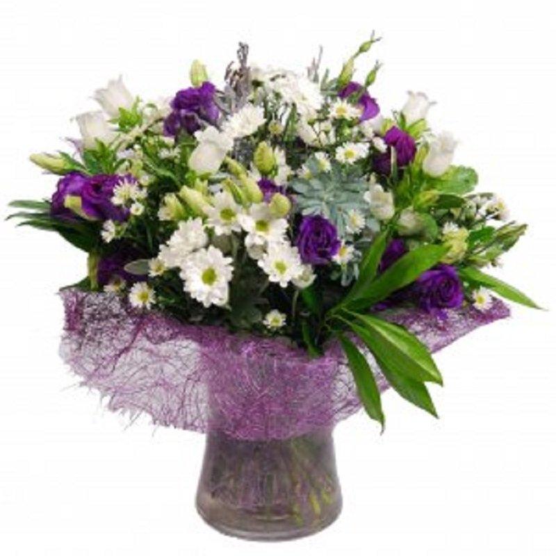 זר פרחים סגלגל - פרחי הדר - מושב צור משה