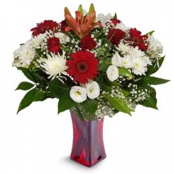 זר אהבה במרומים  - פרחי לב הגליל - טבריה