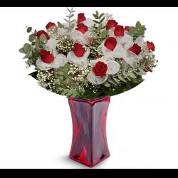 זר רומנטיקה  - פרחי לב הגליל - טבריה