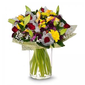 זר ורדים כפרי - פרחי לב הגליל - טבריה