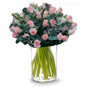 זר ורוד חושני - פרחי לב הגליל - טבריה
