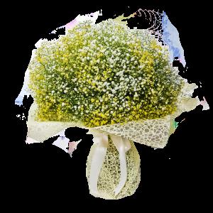 זר גיבסנית צהוב - פרחי לב הגליל - טבריה
