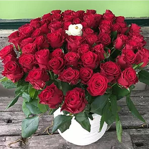 זר ורדים 9   - בוקטו - גדרה
