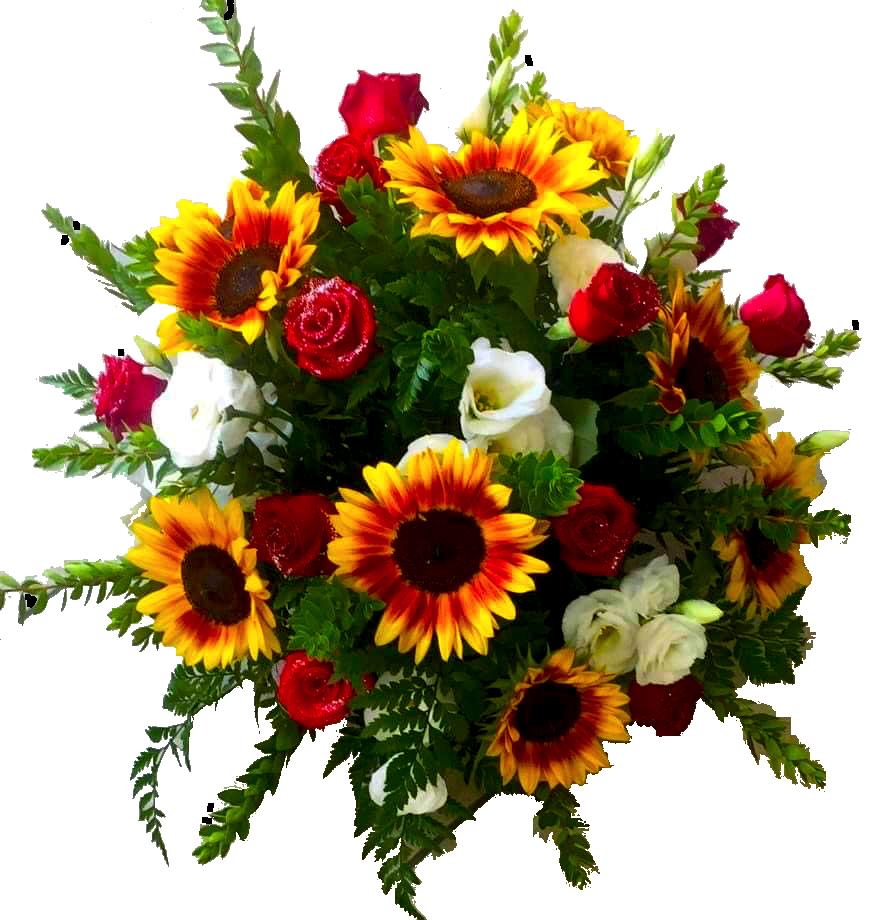 בוקט עם ורדים - פרחי ויולט - אריאל