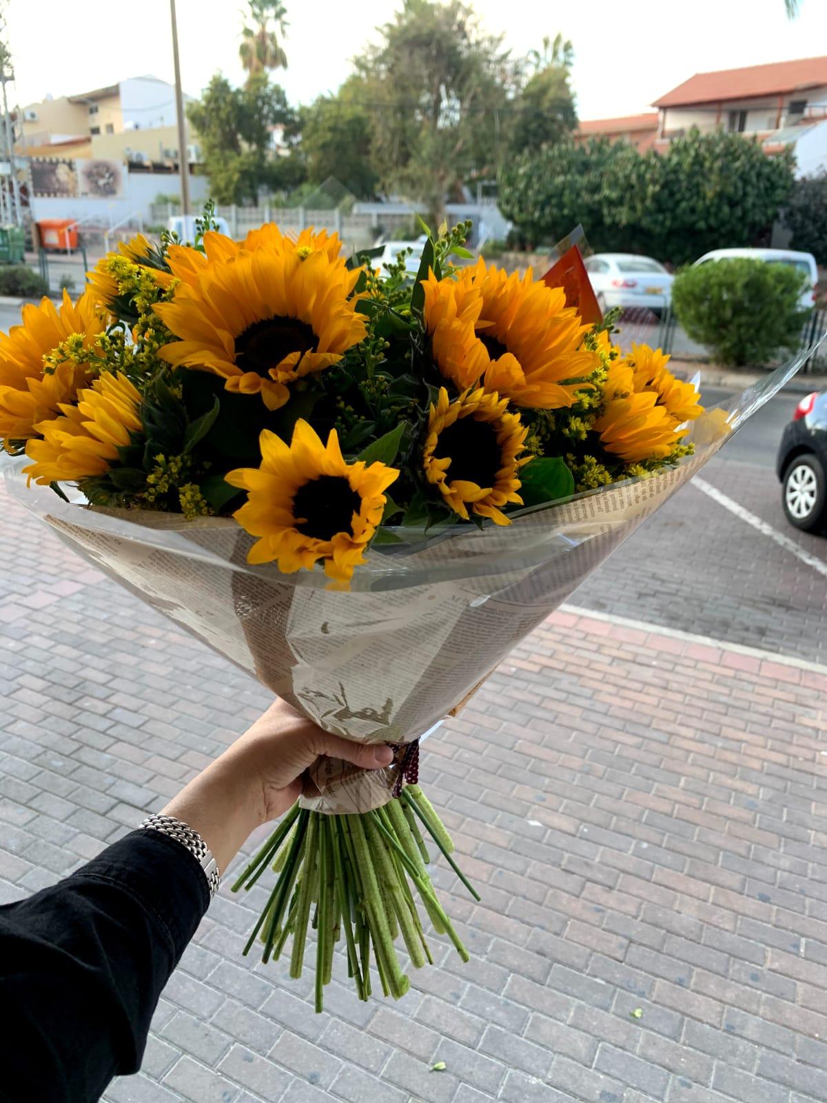 חמניות של אושר - פרח באהבה - אילת