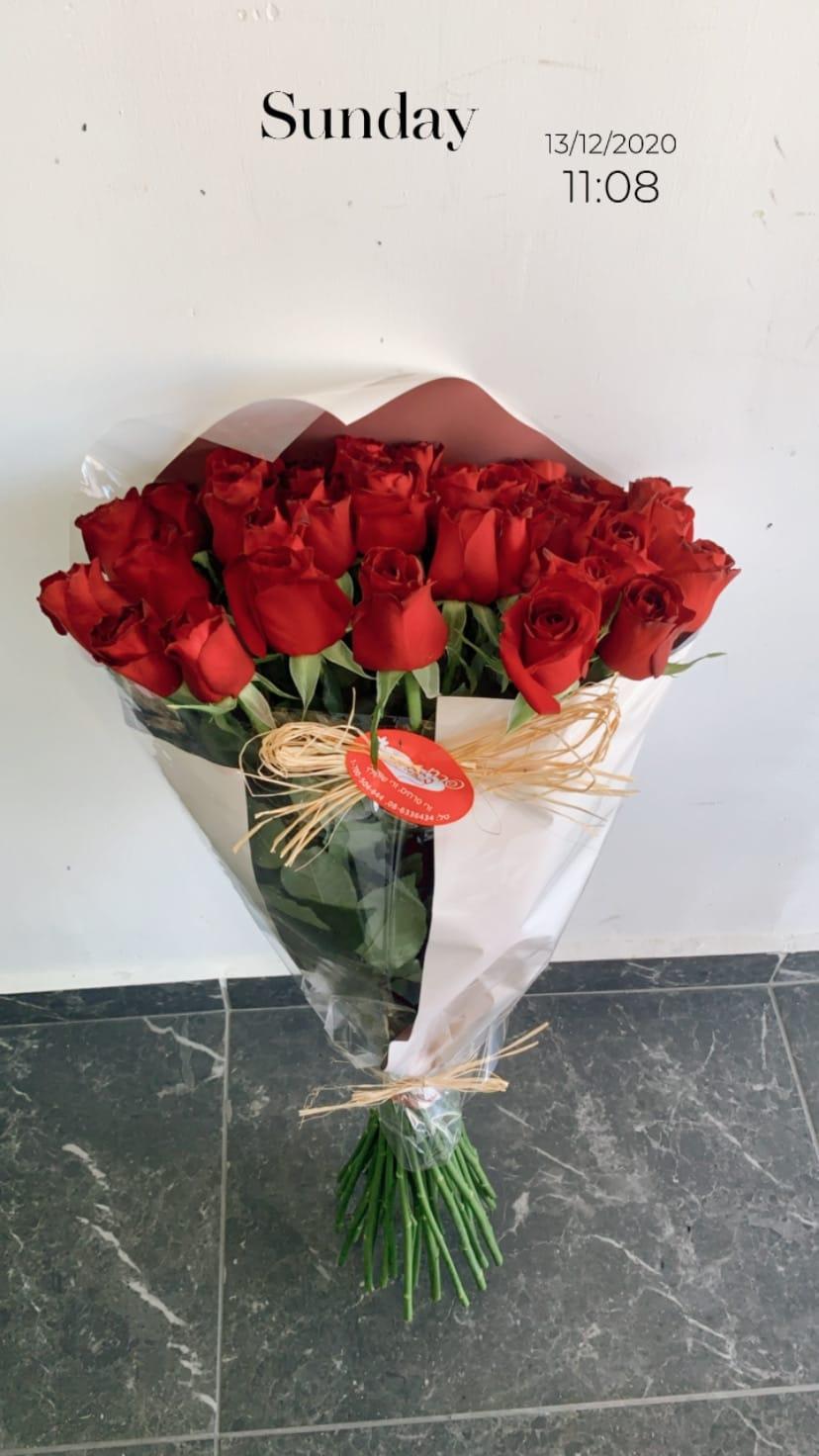 ורדים בנייר ורוד - פרח באהבה - אילת