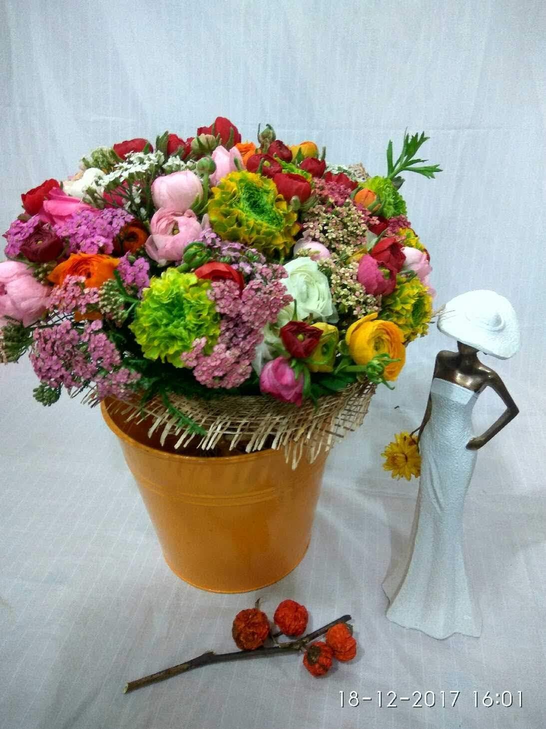 זר צבעי האביב - מימוזה - באר שבע